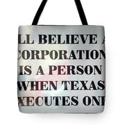 The Citizens United Case Was A Disaster For Our Secular Pluralistic Republic. Tote Bag