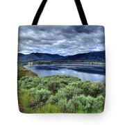 The City And The Clouds Tote Bag