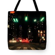 The City In A Rush Tote Bag