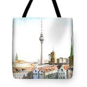 The Cityscape Of Berlin Tote Bag