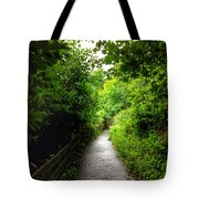 The Cliff Path At Lynton 4 Tote Bag
