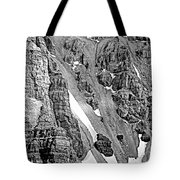 The Climb To Abbot's Hut Bw Tote Bag