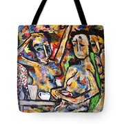 The Coffee Shop Tote Bag by Chaline Ouellet