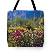 The Colorful Desert  Tote Bag