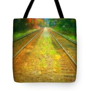 The Colour Along The Tracks Tote Bag