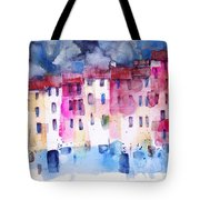 The Coloured Houses Of Portofino Tote Bag