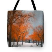 The Colours Of Winter Tote Bag