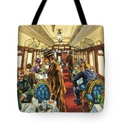 The Comfort Of The Pullman Coach Of A Victorian Passenger Train Tote Bag