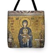 The Comnenus Mosaics In Hagia Sophia Tote Bag