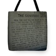 The Comstock Lode Marker Tote Bag