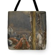 The Confession Of Saint Longinus Tote Bag by Tissot