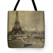 The Construction Of The Eiffel Tower Tote Bag by Paul Louis Delance