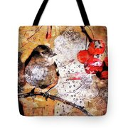 The Content Sparrow Tote Bag