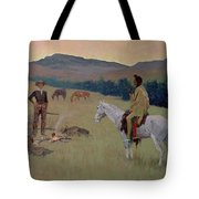 The Conversation Tote Bag by Frederic Remington