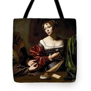 The Conversion Of The Magdalene Tote Bag by Michelangelo Merisi da Caravaggio