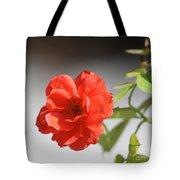 The Coral Rose Tote Bag