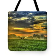 The Cornfield Dawn The Iron Horse Collection Art  Tote Bag