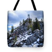 The Cosmic Ray Station Atop Sulphur Mountain, Banff, Canada Tote Bag