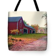 The Cottonwood In Fall Tote Bag