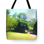 The Country Lane In Spring Time Tote Bag