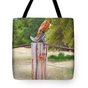 The Cowboy Boot Tote Bag by Donna Greene