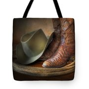 The Cowboy Boots, Hat And Lasso Tote Bag