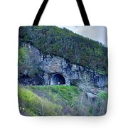 The Craggy Pinnacle Tunnel On The Blue Ridge Parkway In North Ca Tote Bag