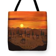 The Creatures All Roamed - Illustration #11 In The Infinite Song Tote Bag