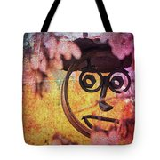 The Creepy All Seeing Bolted Dude Tote Bag