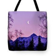 The Crescent Moon In Lavender Tote Bag