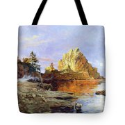 The Crest Of Rock Impressionism Tote Bag by Isabella Howard
