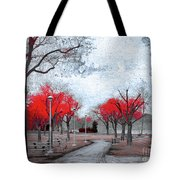 The Crimson Trees Tote Bag