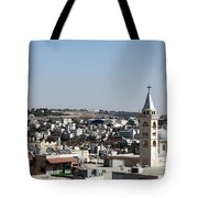 The Cross And The Wall Tote Bag