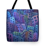 The Crowded City Tote Bag
