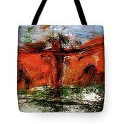 The Crucifixion #1 Tote Bag by Michael Lucarelli