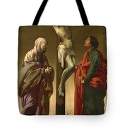 The Crucifixion With The Virgin And Saint John Tote Bag