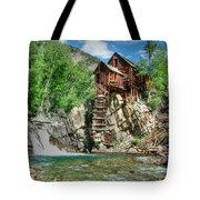 The Crystal Mill In Crystal Colorado Tote Bag by Ken Smith