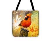 The Curious Cardinal Tote Bag