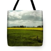 The Curve Of A Mustard Crop Tote Bag