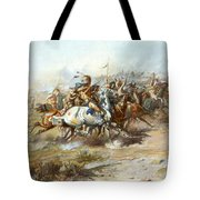 The Custer Fight Tote Bag