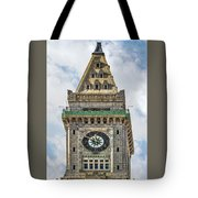 The Customs House Clock Tower Boston Tote Bag