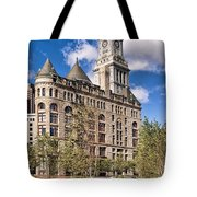 The Customs House Clock Tower Tote Bag