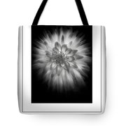 The Dahlia Bw Poster Tote Bag
