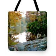 The Dam At Peaks Of Otter Tote Bag