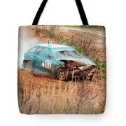 The Damaged Car In A Smoke Tote Bag