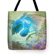The Dance Of The Blue Heron Tote Bag
