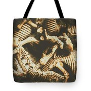 The Dark Dinosaur Abstract Tote Bag