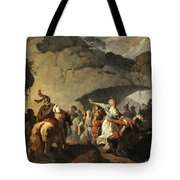 The Daughter Of Ariovistus Made Prisoner By Caesar During The Germans' Defeat Tote Bag