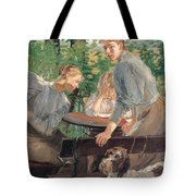 The Daughters Of The Artist In The Garden Tote Bag