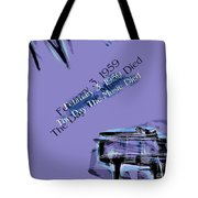 The Day The Music Died - Feb 3 1959 Tote Bag